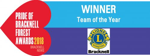 01Team of the Year Winner Bracknell Forest Lions Club
