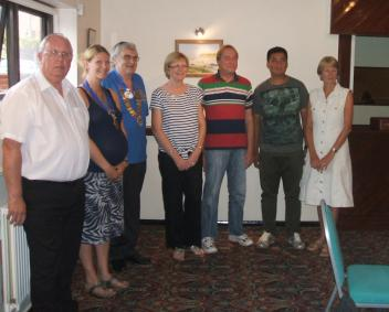 New members, with club members Mike and Clare, and DG David Merchant