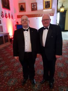 Club president Steve and colleague Paul