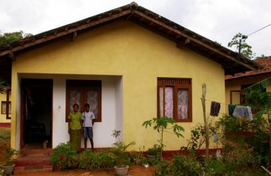 Rebuilt Sri Lankan homes