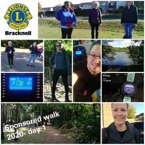 Day one sponsored walk images