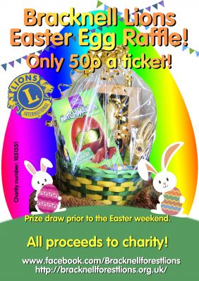 easter raffle poster