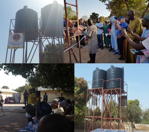 Image: water towers in gambia